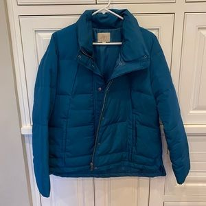 Puffer/down coat from Loft! Teal color. NWOT